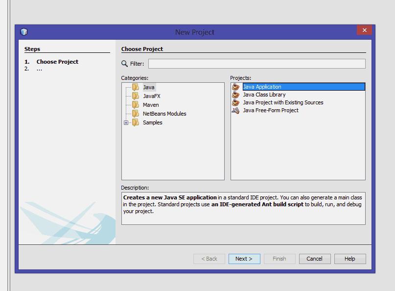 imagen del entorno de trabajo NetBeans