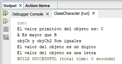 Curso de Java. Ejemplo programa clase Character