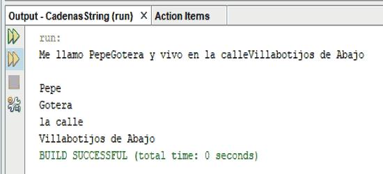 Curso de java. Concatenando cadenas con metodo concat.