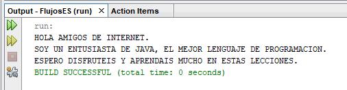 Curso de java. trabajando con flujos de datos. Salida consola.